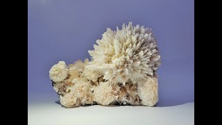 Fine Mineral Collection: Scolecite with Stilbite Crystals on Basalt from Rahuri, Maharashtra, India