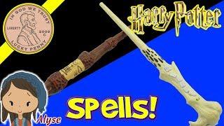 Harry Potter Wands! Cast 11 Spells - Lord Voldemort - Albus Dumbledore