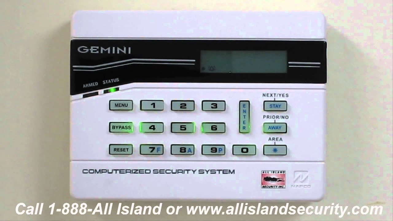alarm systems on long island operating the napco gemini security alarm system [ 1280 x 720 Pixel ]