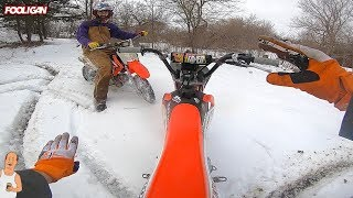 Mini Bike Shredding | Snow Crashes | Frozen Pond