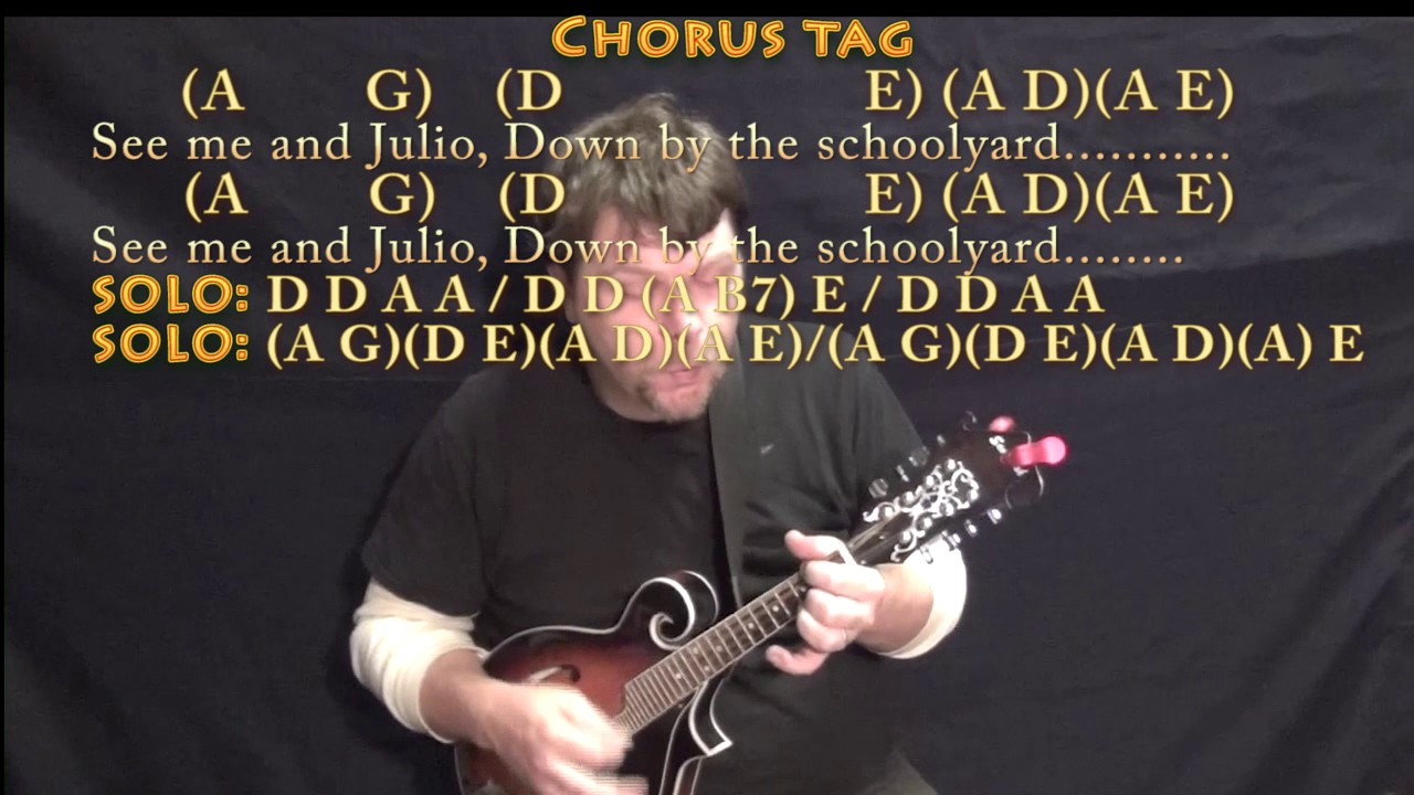 Me And Julio Down By The Schoolyard Paul Simon Mandolin Cover