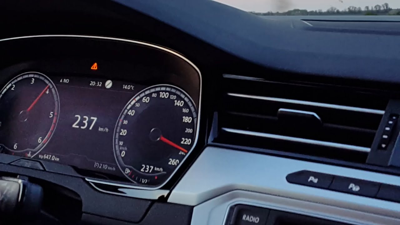 Vw Passat 2015 2 0 Tdi Dsg 190 Ps Top Speed Youtube