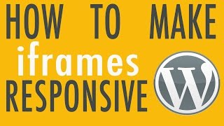 How to Make iframes Responsive - WordPress