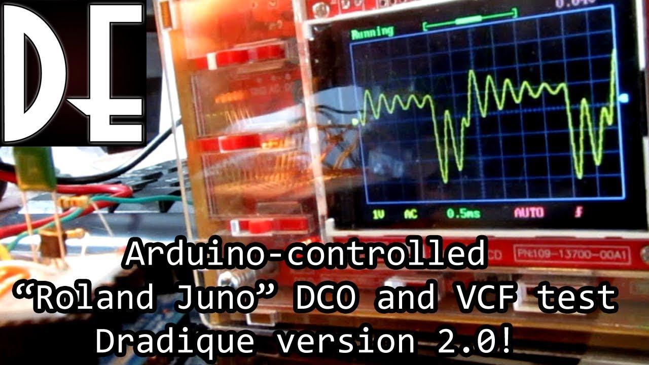 Dradique V2 - Arduino Analog DCO and VCF test
