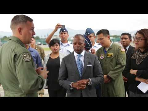 B-Roll: SPMAGTF-SC Marines host media day in Guatemala City