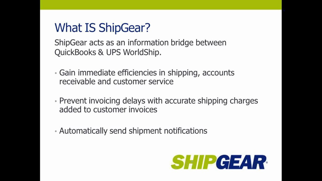 ShipGear for Sage 50 UPS Worldship Integration by Shipping
