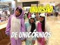 INVASÃO DE UNICÓRNIOS NO SHOPPING - Pagando o Mico de 100 mil inscritos - Julia Moraes