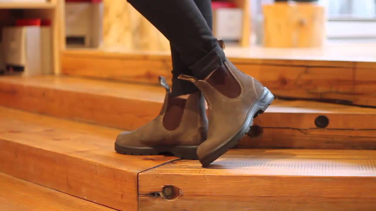 Blundstone 585 Round Toe In Rustic Brown Youtube