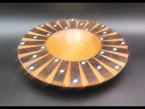 Swarovski Schale drechseln , woodturning a Swarovski Bowl DIY