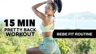 """15MIN """"Pretty Back"""" Workout (no equipment) กำจัดไขมันปีกหลัง ท่าง่ายๆ"""