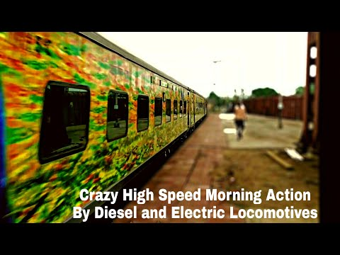 Crazy High Speed Action From Electric and Diesel Locomotives