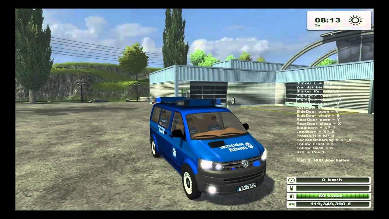 Volkswagen T5 Thw Police V 1 0 Ls 2013 Mod Downloadlink