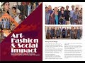 Art- Fashion & Social Impact I A human chain of water lines |