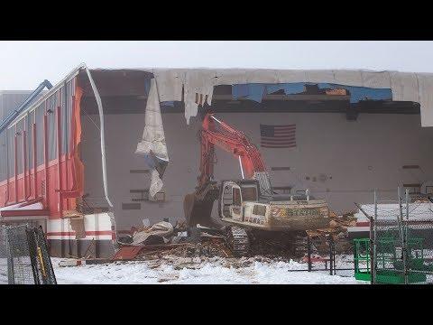 Thurston High School gym demolished after snow damage