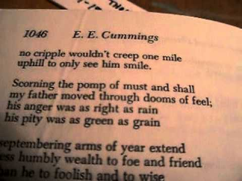 My Father Moved Through Dooms Of Love By E E Cummings Youtube