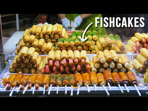 Korean Street Food in Myeongdong during Summer & Fall