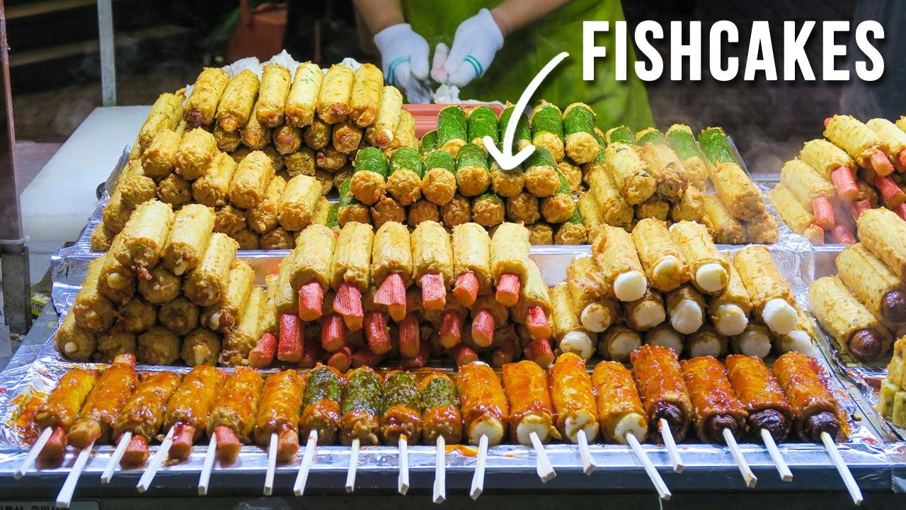 Korean Street Food In Myeongdong During Summer Fall Youtube