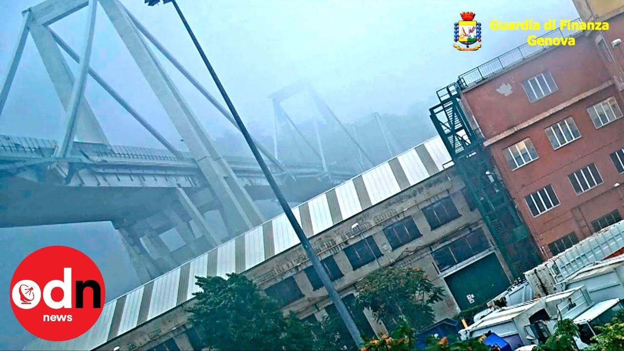 Police release new footage of doomed Morandi Bridge collapse in Genoa