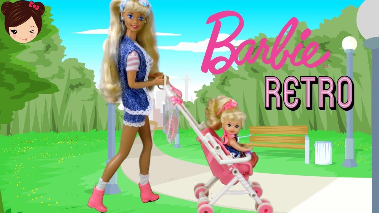 Barbie Y El Cochecito De La Muneca Bebe Kelly Juguetes De Barbie