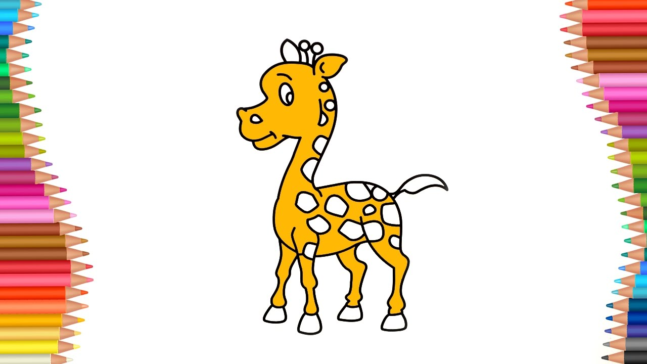 How To Color Giraffe | Coloring Videos for Kids | Lear How ...
