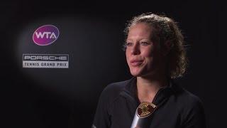 Interview Laura Siegemund (GER) finals (in German) - Porsche Tennis Grand Prix 2017