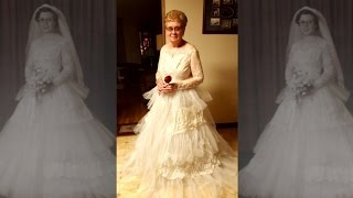 80-Year-Old Woman Puts On Wedding Dress for 60th Anniversary and it Still Fits