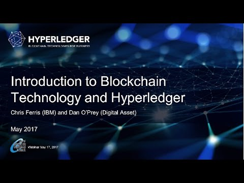 CSCC Webinar: Hyperledger: Advancing Blockchain Technology f