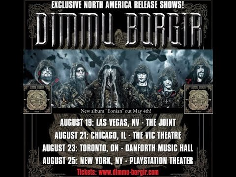 DIMMU BORGIR to play live on some new album Eonian release shows in N.A.!