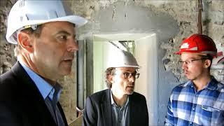 La visite du chantier du théâtre d'Evreux septembre 2017