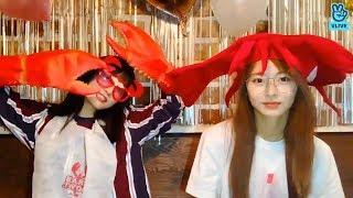 (ENG sub) [V LIVE] TWICE - MOMO&TZUYU's eating show