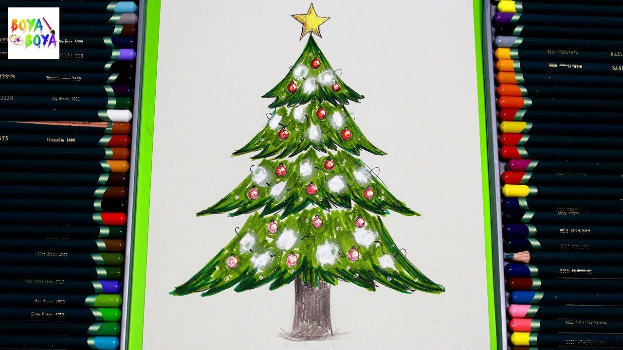 Yılbaşı Ağacı Nasıl çizilir Boya Boya Youtube