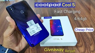 Coolpad Cool 5 Unboxing & Overview, Giveaway Result, Blue Gradient Color, 4/64gb and Fast Charging