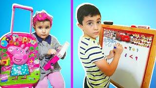 Super Celina At School | School Bag - سوبر سيلينا وحسونة اول يوم مدرسة للاطفال