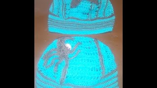 Вязание крючком детской шапки банданы часть 3 из 12