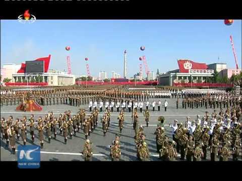 Kim Jong Un at Pyongyang military parade
