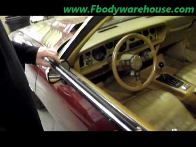 How To Install Door Top Window Sweeps On 1970 1981 Camaro Trans Am Youtube