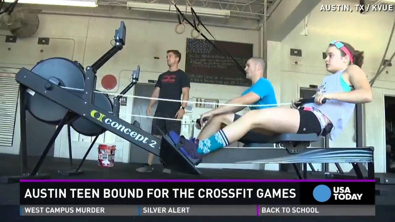 14 year old girl to compete in crossfit games youtube