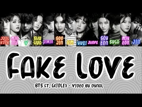 BTS (방탄소년단) ft. (G)I - DLE (여자아이들) - FAKE LOVE (Color Coded Lyrics/Eng/Han/Rom)