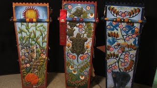 Mohawk Cradleboard Maker Carves And Paints His Work