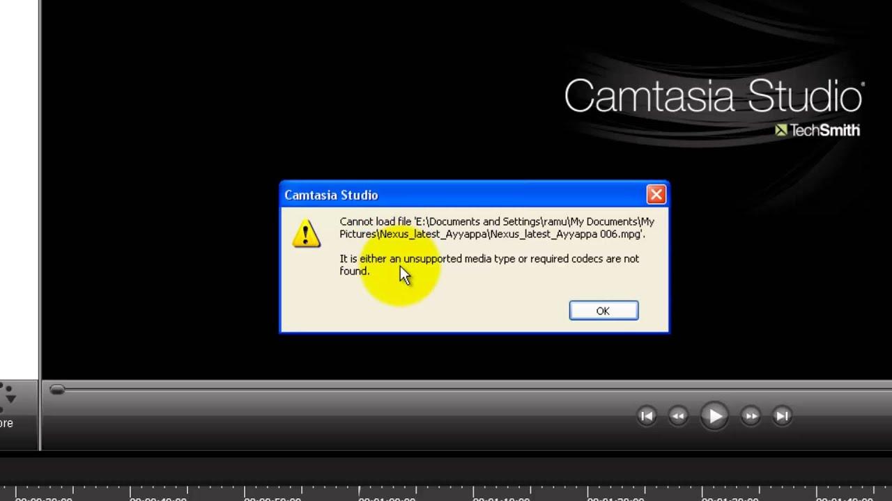 camtasia studio video codec