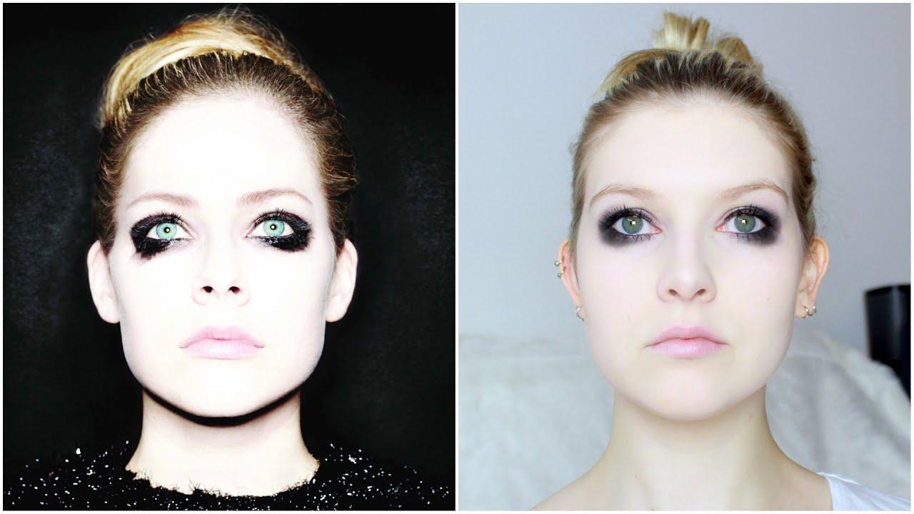 Avril Lavigne Album Cover Make Up Tutorial Youtube
