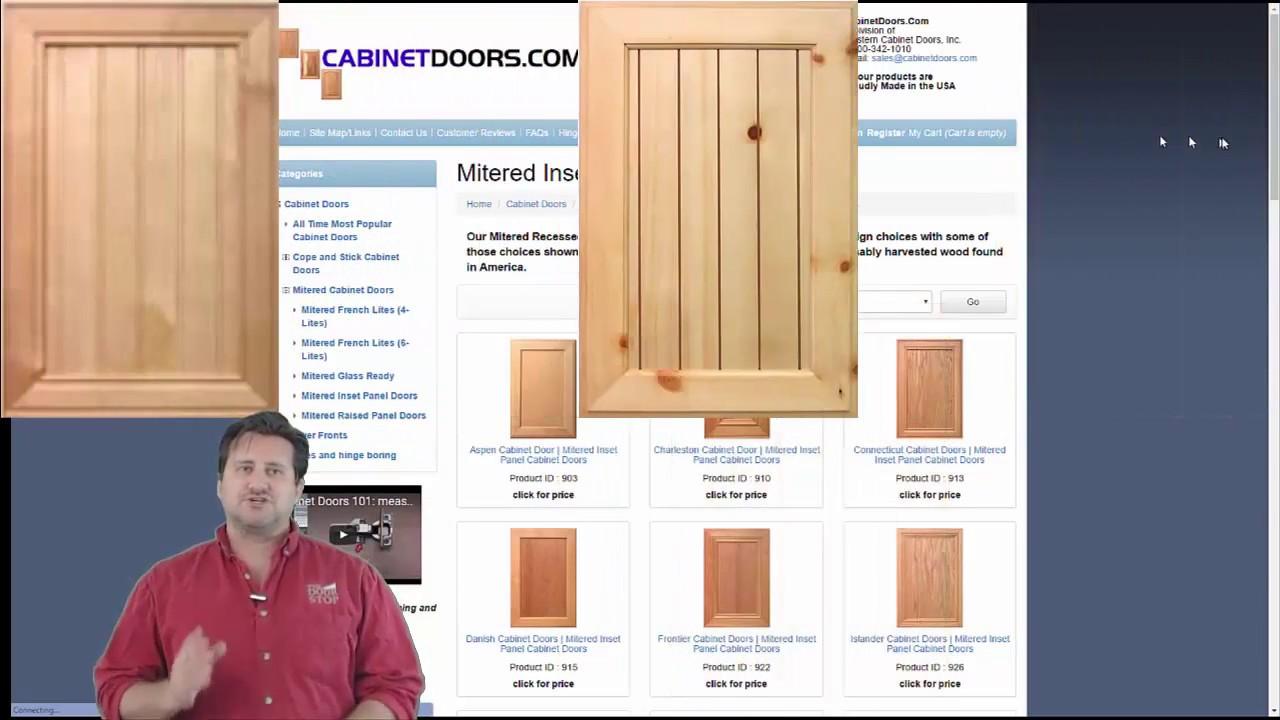 Cabinet Door Styles Mitered Cabinet Doors Mitered Inset Panel Cabinet Doors Youtube