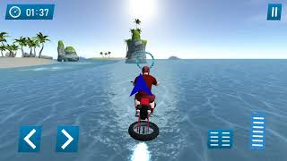 Water Surfing Stunt Bike - Gameplay Android games - racing stunt bike games