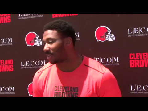 Cleveland Browns DE Myles Garrett talks about his relationship with NFL legend Bruce Smith