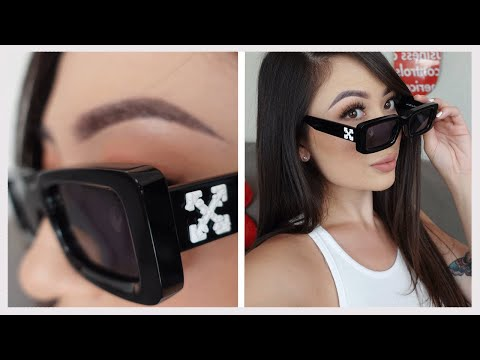 OFF-WHITE SUNGLASSES UNBOXING + REVIEW   SQUARED SUNGLASSES SS2020