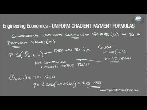 Uniform Gradient Payment Formulas - Fundamentals of Engineering Economics (Part 2)
