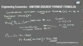 Uniform Gradient Payment Formulas - Fundamentals of Engineering Economics (Part 2)