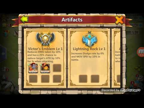 Castle Clash Adding Artifacts To Heros And Raid (update 1.2.78)