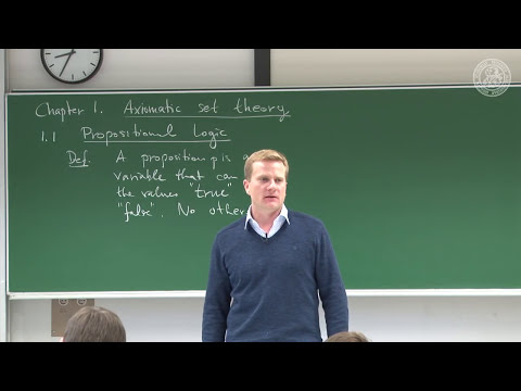 Introduction/Logic of propositions and predicates- 01 - Frederic Schuller