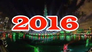 Rehearsal for New Year 2016 fireworks at Burj Khalifa